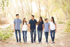 Family portraits in blue, white, and jeans.  Teenage children. photographed by Gilbert, Arizona photographer Melissa Maxwell of Jubilee Family Photography in Queen Creek.