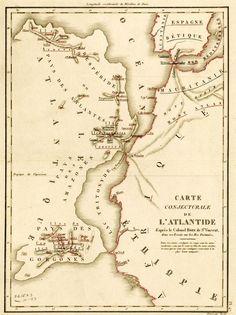 Carte conjecturale de l'Atlantide