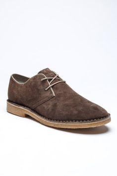 Brown desert shoes
