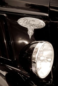 Ford V8 Black and White
