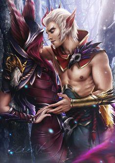 LoL | League of Legends - Xayah and Rakan by Eldervi