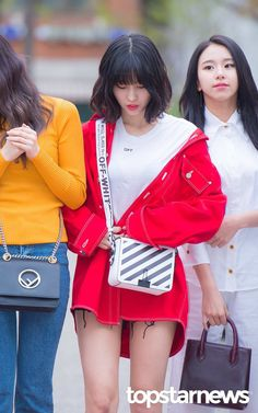 : heading to Music Bank J Pop, Kpop Fashion, Korean Fashion, Airport Fashion, Nayeon, South Korean Girls, Korean Girl Groups, Korean Couple, Hirai Momo