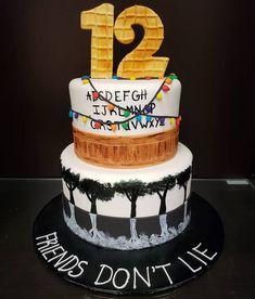 Stranger things custom cake custom cakes in 2019 Demogorgon Stranger Things, Stranger Things Upside Down, Bobby Brown Stranger Things, Cute Birthday Cakes, 12th Birthday, Scary Cakes, Character Cakes, Cake Videos, Cute Cakes