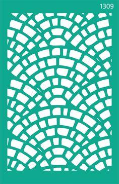 Трафарет самоклеющийся 13х20см №1309 фоновый Абстракция