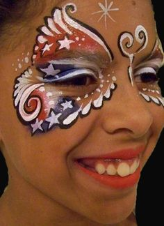 Face Painter in Salt Lake City and all over Utah Face Painting Designs, Body Painting, Happy Fourth Of July, July 4th, Butterfly Species, 4th Of July Celebration, Let Freedom Ring, Salt Lake City Utah, Face Design