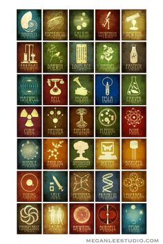 Limited 24x36 Science Poster 35 Designs in One Geek by meganlee
