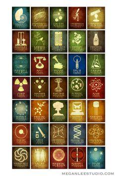 11x14 Science Art Marie Curie Rock Star Scientist Steampunk Print Radioactive…