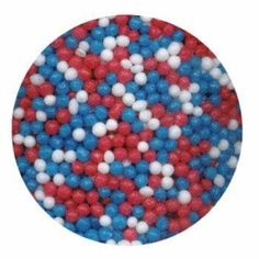Red, White and Blue Non Pariels by Unknown. $2.99. Nonpareils are a decorative confection of tiny balls made with sugar and starch, traditionally an opaque white but now available in many colors.  Use them to decorate your cakes, cupcakes, cookies, ice cream, candies and anything else you want to add a splash of color.  Pk/4 oz.