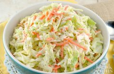 KFC-Coleslaw-Recipe -made this for dinner tonight. It was better than KFC perhaps because it was fresher and a smaller batch ( for Kfc Coleslaw, Vegan Coleslaw, Potluck Recipes, Salad Recipes, Cooking Recipes, Easy Recipes, Cooking Ideas, Delicious Recipes, Simply Recipes