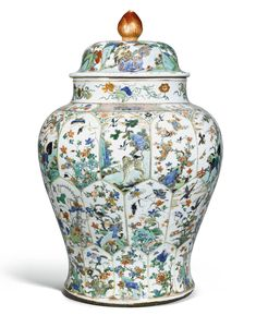 AMILLE-VERTE BALUSTER JAR AND COVER QING DYNASTY, KANGXI PERIOD 58cm., 22 7/8 in.