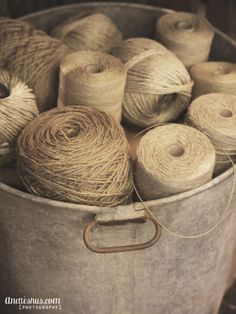 old twine, and a pail. great vignette! how utterly simple...