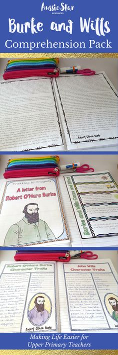 Four fun comprehension activities about Australian Explorers Burke and Wills. Burke's letter to the students takes them through the expedition, the difficulties they had and the actions and events that lead to tragedy. Aligned with the Australian Curriculum for Year 5 HASS.