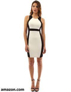 4c59fb1a8e4 PattyBoutik Women's Block Color Sleeveless Stretch Dress Best Casual Dresses,  Dresses For Work, Women