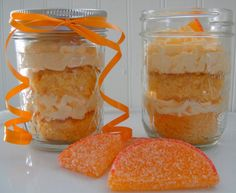 cake in a jar @Dennis Themenace Omg, is this another version of those orange creamsicle cupcakes you want!? :)