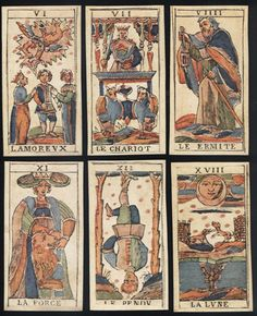Cards from a 15th century deck from Bologna