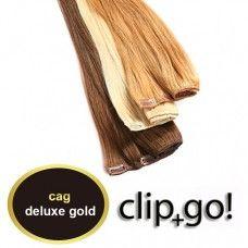 clip in Tresse deluxe gold seidenglatt 30cm breit