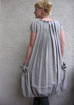 Eco friendly natural linen dress tunic by rubuartele on Etsy.  Not a pattern, but lovely inspiration!