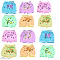 Innerwear Elegant Kid's Innerwear  Fabric: Cotton Size: Age Group (0 Months - 6 Months) - 12 in Age Group (6 Months - 9 Months) - 12 in Age Group (9 Months - 12 Months) - 14 in Age Group (1 - 2 Years) - 18 in Age Group (2 - 3 Years) - 20 in Age Group (3 - 4 Years) - 22 in Age Group (4 - 5 Years) - 24 in Description: It Has Pack Of 12 Kids Panty & Bloomer For Unisex Work: Printed Country of Origin: India Sizes Available: 0-3 Months, 0-6 Months, 3-6 Months, 6-9 Months, 6-12 Months, 9-12 Months, 12-18 Months, 18-24 Months, 0-1 Years, 1-2 Years, 2-3 Years, 3-4 Years, 4-5 Years, 5-6 Years, 6-7 Years, 7-8 Years, 8-9 Years, 9-10 Years   Catalog Rating: ★3.9 (3454)  Catalog Name: Modern Elegant Kid's Innerwear 1 Vol 8 CatalogID_499238 C59-SC1187 Code: 413-3580436-447