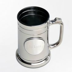 Personalized Gunmetal Mug with Pewter Medallion - Gunmetal Mug with Plain Medallion We can personalize this gift for you. Choose your preferred design. Send us an email as soon as the order is placed.  #Home