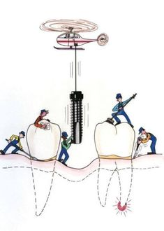Trabajando para mantener dientes sanos