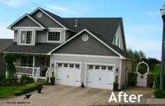 . different color siding to add interest. Ideas for Curb Appeal ~ - Today's Creative Life