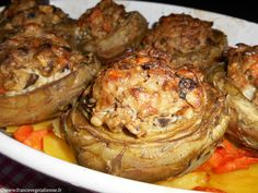 Artichauts farcis (recette végétalienne)