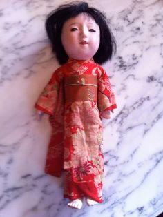 My antique made-in-Japan doll. Gorgeous kimono.