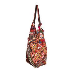 SIMONE CAMILLE - MOON BAG VINTAGE SHOULDER BAG ($1,400) ❤ liked on Polyvore featuring bags, handbags, shoulder bags, accessories, purses, sacs, shoulder hand bags, vintage beaded handbag, beaded purse and beaded hand bags