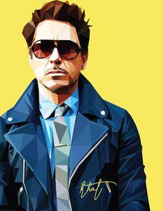 Robert Downey Jr - Low Poly Vector Art Throw Pillow by khitkhat - Cover x with pillow insert - Indoor Pillow Marvel Art, Marvel Heroes, Marvel Avengers, Captain Marvel, Iron Man Wallpaper, Marvel Wallpaper, Tony Stark Wallpaper, Iron Man Avengers, Robert Downey Jr.