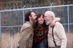 Rick, Daryl, Hershel