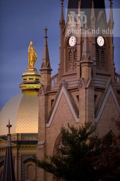 Dome and Basilica steeple, fall 2011..Photo by Matt Cashore/University of Notre Dame