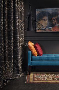 easy elegance - Vorhang und Kissen LYRICS und Uni-Kissen TORINO von Apelt