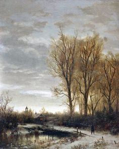 A Winter Evening - George Herbert McCord 19th century