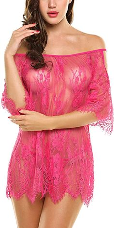 Avidlove Women Chemises Lace Smock Sexy Lingerie Mini Babydoll Mesh Nightgown Rose Red XLarge >>> Details can be found by clicking on the image. (This is an affiliate link) Lingerie Outfits, Lingerie Dress, Pretty Lingerie, Babydoll Lingerie, Lingerie Set, Women Lingerie, Women's Chemises, Night Dress For Women, Jolie Lingerie