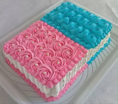 35 Ideas For Birthday Cake Recipe Ideas Vanilla Cupcakes Square Cake Design, Square Cakes, Cake Decorating Techniques, Cake Decorating Tips, Baby Reveal Cakes, Twin Birthday Cakes, Rosette Cake, Cookies For Kids, Just Cakes