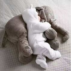 Baby Sleeping Elephant Pillow Back Cushion Soft Doll Plush Elephant Toy Soft Stuffed Pillow Elephant Doll Newborn Playmate Doll Kids Birthday Gift Cute Baby Elephant, Elephant Nursery, Elephant Gifts, Elephant Elephant, Stuffed Elephant For Baby, Baby Sleep, Baby Baby, Baby Toys, So Cute Baby