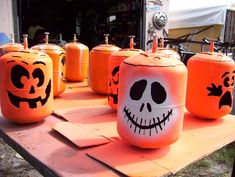Rustic ReDiscovered: Mikes Metal Studio pumpkins made from freon cans