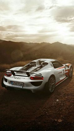 The Porsche 918 Spyder is a Hybrid supercar with a limited production of 918 units that ended in The car is available as a coupe and as roadster. Exotic Sports Cars, Cool Sports Cars, Sport Cars, Exotic Cars, Porsche Sports Car, Porsche Cars, Ferrari Car, Luxury Car Image, Porsche 918