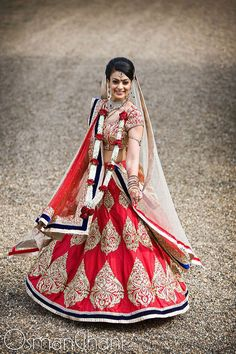 kind of similar to my lehenga, but reverse the border and main colors :)