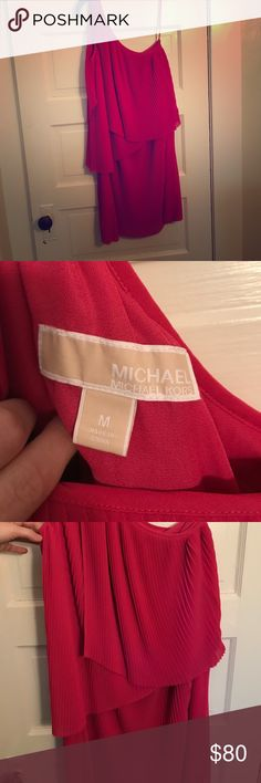 Michael Kors One Shoulder dress Michael Kors One Shoulder dress. Never worn. Pink/raspberry color. Michael Kors Dresses One Shoulder