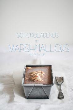 choc ice cream with marshmallows