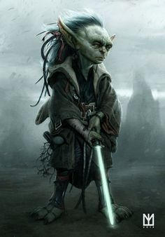 Concept artist Marco Teixeira has come up with an a fantastic piece imagining what the Grand Jedi Master 'Yoda' might have looked like when he was young.