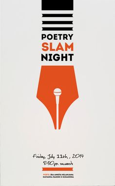 Poster for open mic poetry night by Utkarsh Khatri