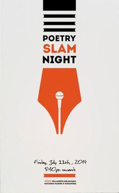Poster for open mic poetry night by Utkarsh Khatri