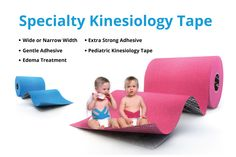 """Specialty Tapes: Kinesiology tape is not a """"one type fits all"""" product. A variety of specialty formats are available for a special sizes, special people and special conditions. From gentle tape for the most sensitive skin to extra-sticky tape for extreme athletes, we've got you covered."""