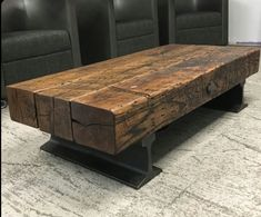 Flatcar Coffee TableYou can find industrial table and more on our website. Metal Furniture, Industrial Furniture, Rustic Furniture, Home Furniture, Furniture Design, Industrial Table, Reclaimed Wood Furniture, Modern Industrial, Outdoor Furniture