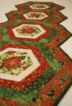 (7) Name: 'Quilting : Hexagonal table runner