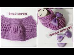 ÇOK KOLAY YAPILAN BEBEK PATİK MODELİ - YouTube Baby Booties Knitting Pattern, Knit Baby Booties, Baby Knitting Patterns, Knitting Socks, Baby Patterns, Knitted Hats, Crochet Stitches, Knit Crochet, Tricot Baby