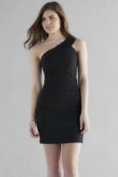 Barletta Bandaged One-Shoulder Dress
