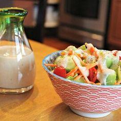 Nona's Japanese Ume Dressing Ginger Salad Dressings, Salad Dressing Recipes, Creamy Coleslaw Dressing, Soy Ginger Dressing, Coleslaw Recipe Easy, Japanese Ginger, Grilled Halibut, Keto Sauces